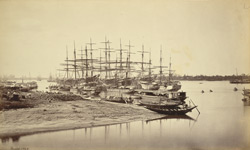 View of shipping from Hastings' Bridge [Calcutta]